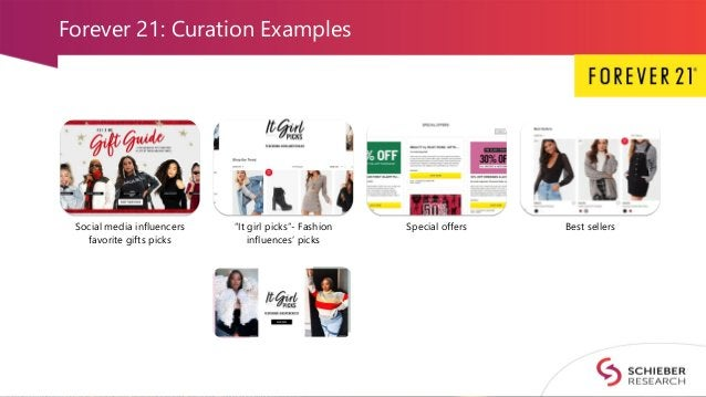 """Forever 21: Curation Examples Social media influencers favorite gifts picks """"It girl picks""""- Fashion influences' picks Spe..."""