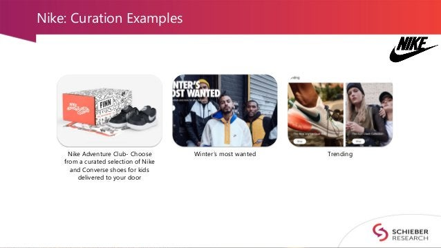 Nike: Curation Examples Nike Adventure Club- Choose from a curated selection of Nike and Converse shoes for kids delivered...