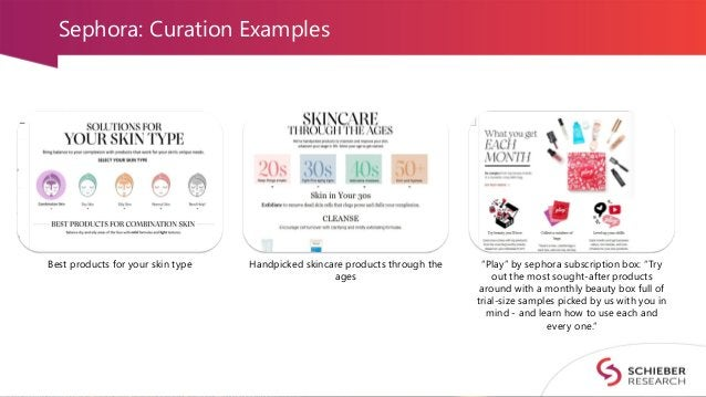 """Sephora: Curation Examples Best products for your skin type Handpicked skincare products through the ages """"Play"""" by sephor..."""