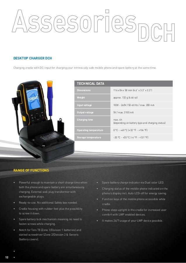 Ecom Ex-Handy 08 - ATEX Hazardous Area Mobile Phone - Data Sheet