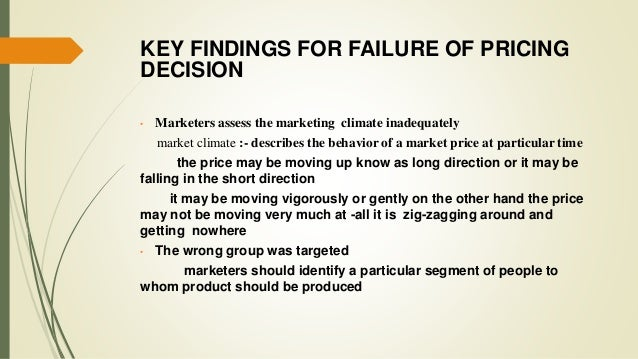 the factors affecting pricing decision An examination of factors that affect pricing decisions for export markets etienne musonera, college of business, eastern new mexico university, usa.