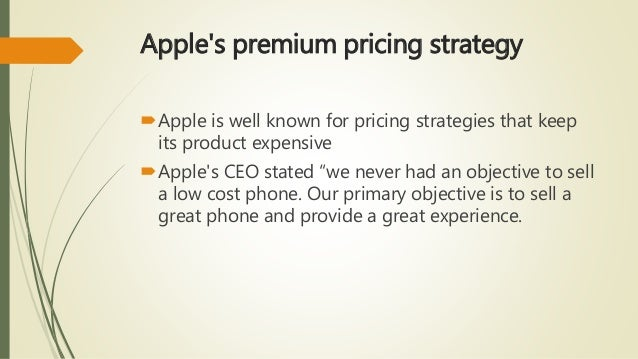 apple pricing policy