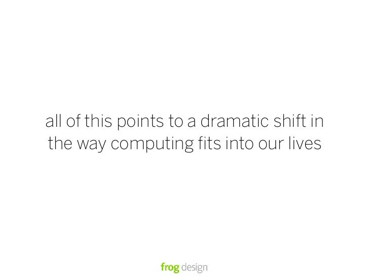 all of this points to a dramatic shift in the way computing fits into our lives