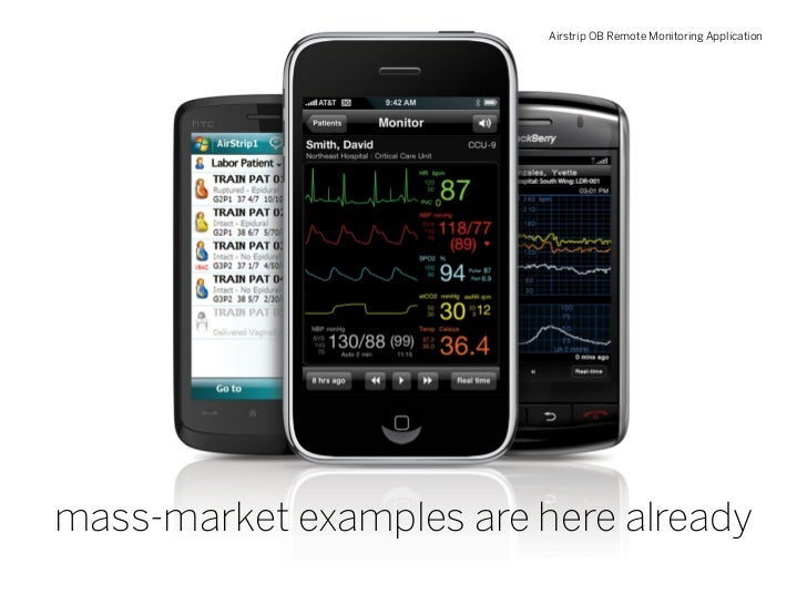 Airstrip OB Remote Monitoring Application     mass-market examples are here already