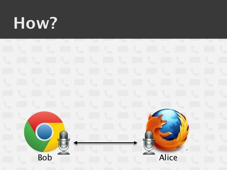 How?  Bob   Alice