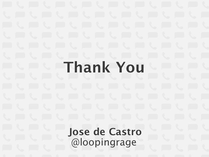 Thank YouJose de Castro @loopingrage
