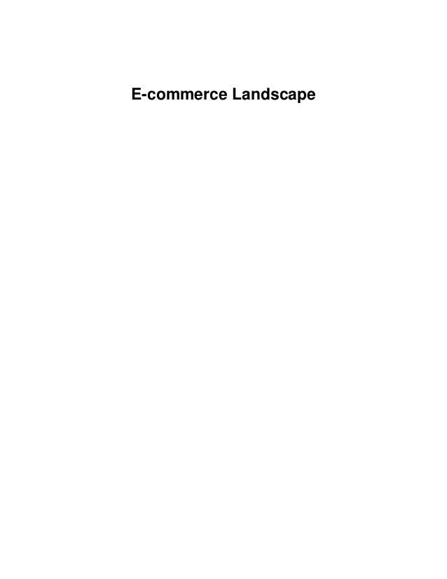 E-commerce Landscape