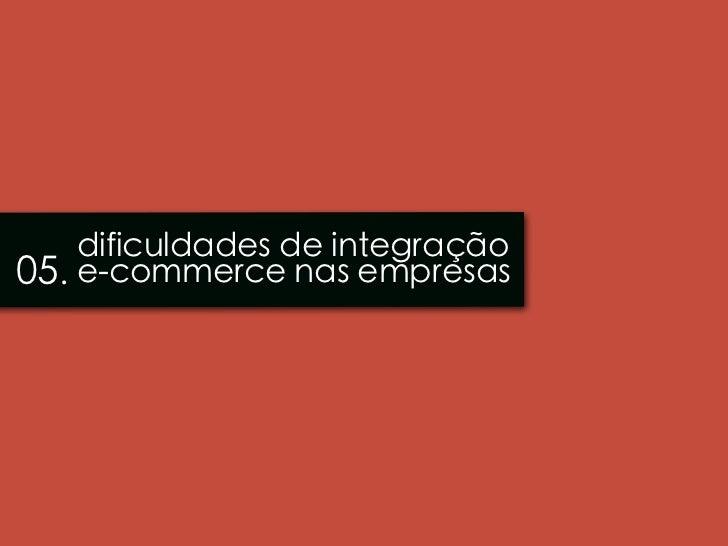 dificuldades de integração05. e-commerce nas empresas