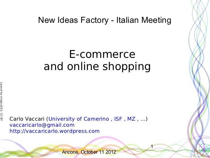 New Ideas Factory - Italian Meeting                                               E-commerce                              ...