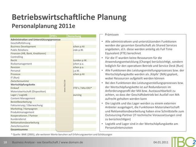 Betriebswirtscha7liche Planung           Personalplanung 2011e                                                    ...