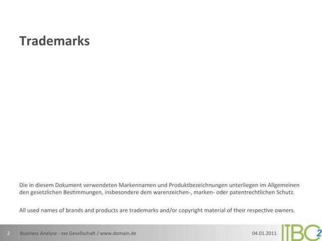 Trademarks         Die in diesem Dokument verwendeten Markennamen und Produktbezeichnungen unterliegen ...