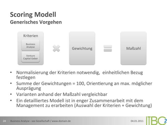 Scoring Modell          Generisches Vorgehen                         Kriterien                            Busine...