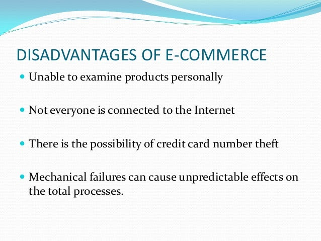 Pros and cons of e commerce essays