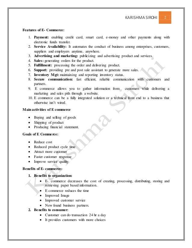 E commerce full notes for mba  Slide 2