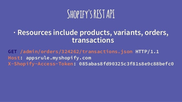 Developing eCommerce Apps with the Shopify API