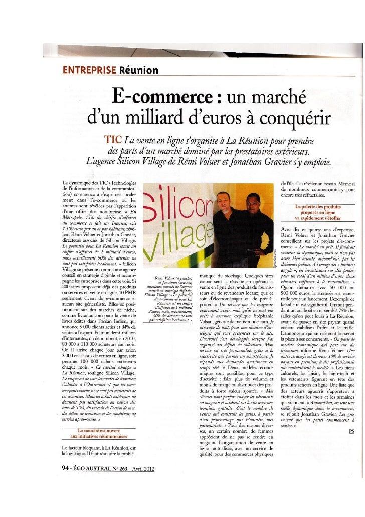 Ecommerce ile de la Réunion ; un marché d'un milliard d'euros à conquérir