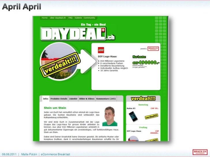 730 Deals an 730 Tagen<br />Die Introtexte ergeben ein  220 Seiten dickes Taschenbuch<br />37'000 Kommentare<br />199 Tonn...