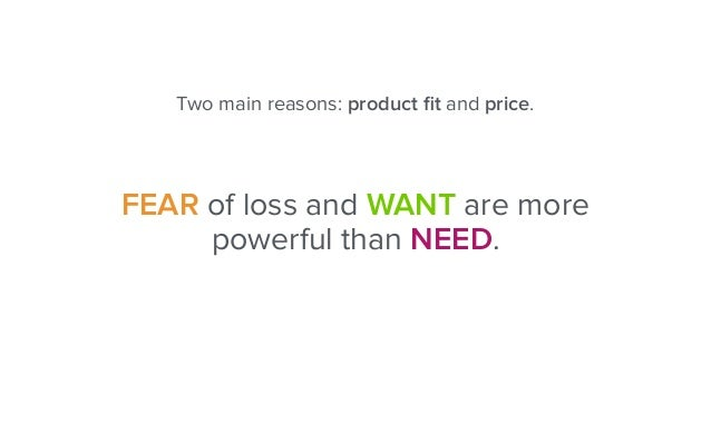 1. PRICE Solution: Drop the price or communicate added value. It is always too high.