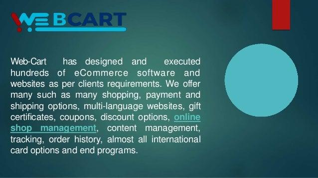 Web-Cart - Ecommerce Software, Ecommerce Multistore Shopping Cart