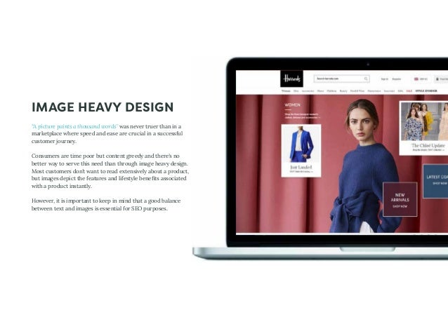 """IMAGE HEAVY DESIGN """"A picture paints a thousand words"""" was never truer than in a marketplace where speed and ease are cruc..."""