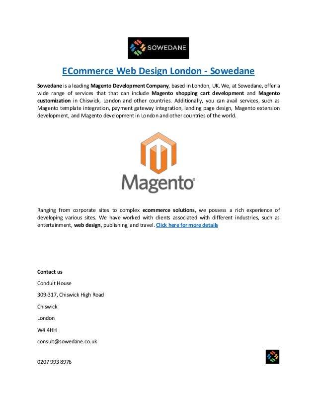 ECommerce Web Design London - Sowedane Sowedane is a leading Magento Development Company, based in London, UK. We, at Sowe...