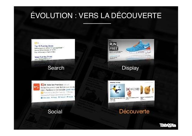 ÉVOLUTION : VERS LA DÉCOUVERTE Display Search Découverte Social