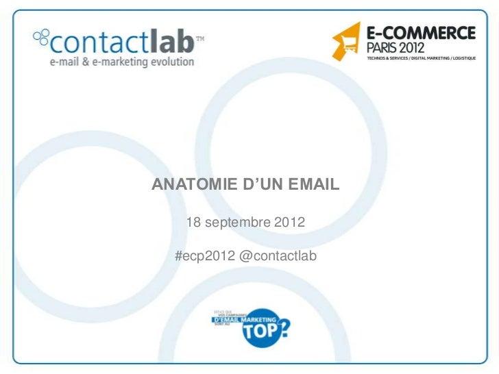 ANATOMIE D'UN EMAIL   18 septembre 2012  #ecp2012 @contactlab