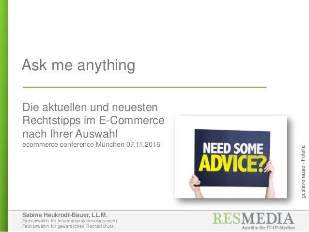 Sabine Heukrodt-Bauer, LL.M. Fachanwältin für Informationstechnologierecht Fachanwältin für gewerblichen Rechtsschutz Ask ...