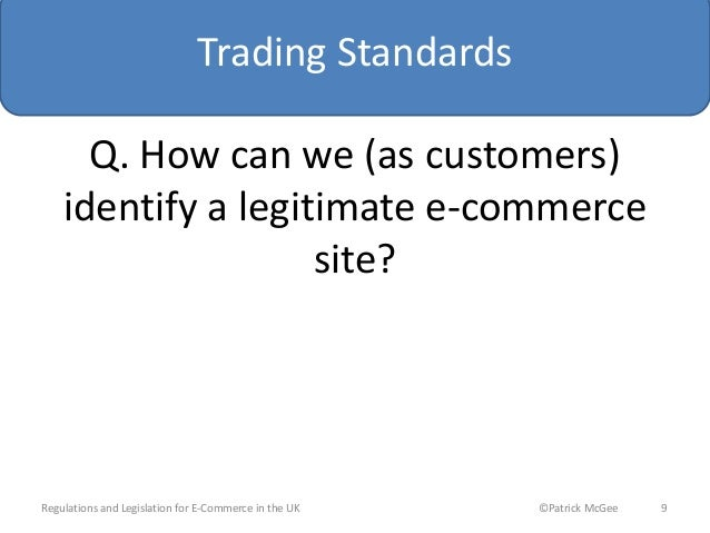 laws and guidelines regulating e commerce 22-03-2018 the use of food products is governed by the provisions of the federal food, drug, and cosmetic act (ffdca), and the regulations issued under its authority.