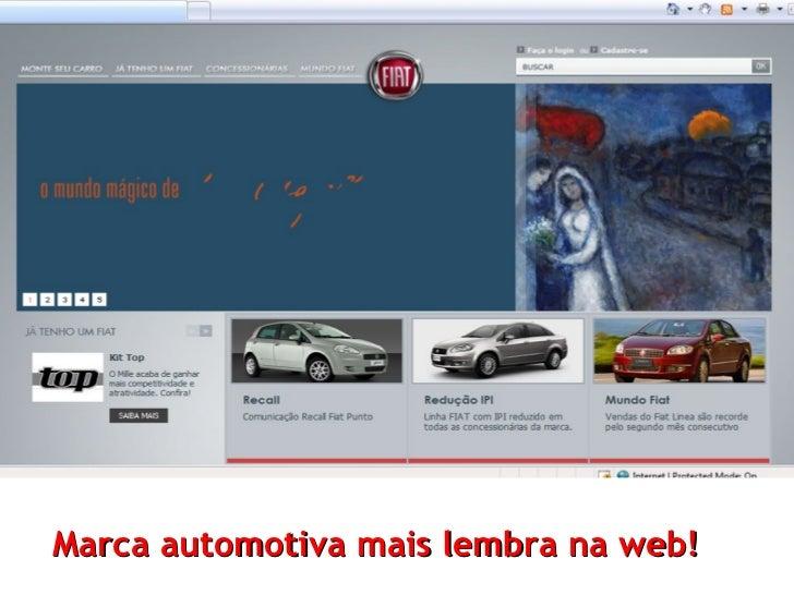 Marca automotiva mais lembra na web!