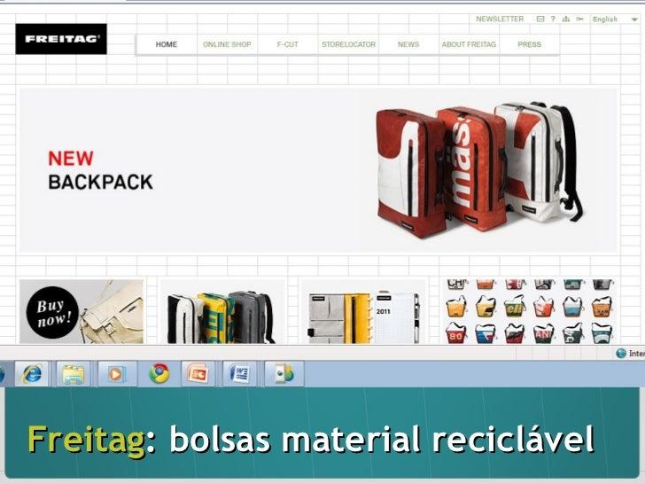 Freitag : bolsas material reciclável