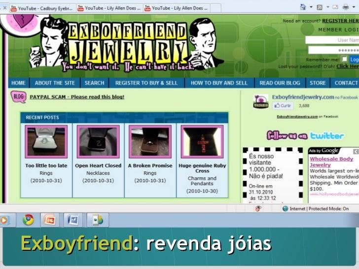 Exboyfriend : revenda jóias