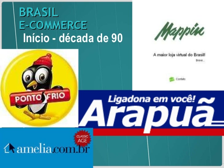 Início - década de 90 BRASIL   E-COMMERCE