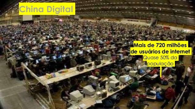 China Digital Mais de 720 milhões de usuários de internet Quase 50% da população