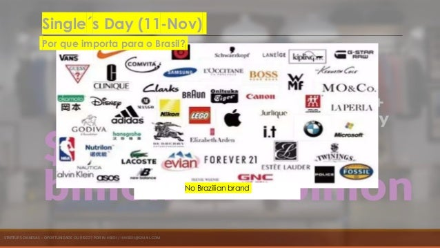 STARTUPS CHINESAS – OPORTUNIDADE OU RISCO? POR IN HSIEH / INHSIEH@GMAIL.COM No Brazilian brand Single´s Day (11-Nov) Por q...