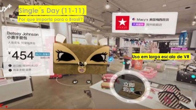 STARTUPS CHINESAS – OPORTUNIDADE OU RISCO? POR IN HSIEH / INHSIEH@GMAIL.COM Uso em larga escala de VR Single´s Day (11-11)...