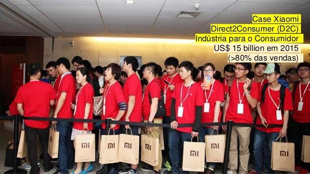 Case Xiaomi Direct2Consumer (D2C) Indústria para o Consumidor US$ 15 billion em 2015 (>80% das vendas)