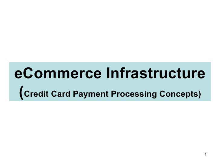 eCommerce Infrastructure ( Credit Card Payment Processing Concepts)