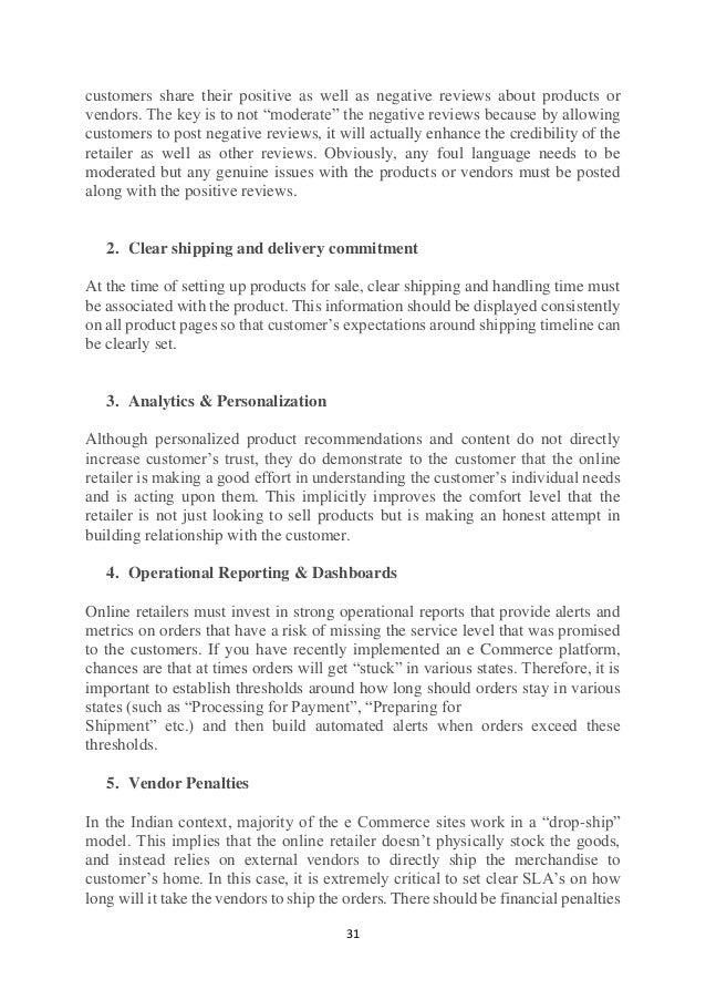 commerce e literature review