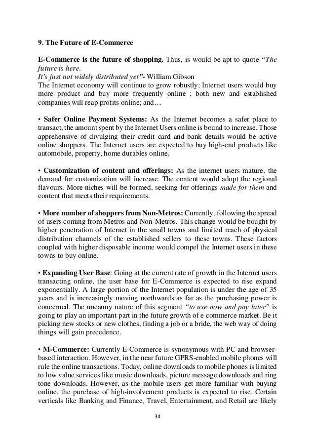 E Commerce In India Literature Review