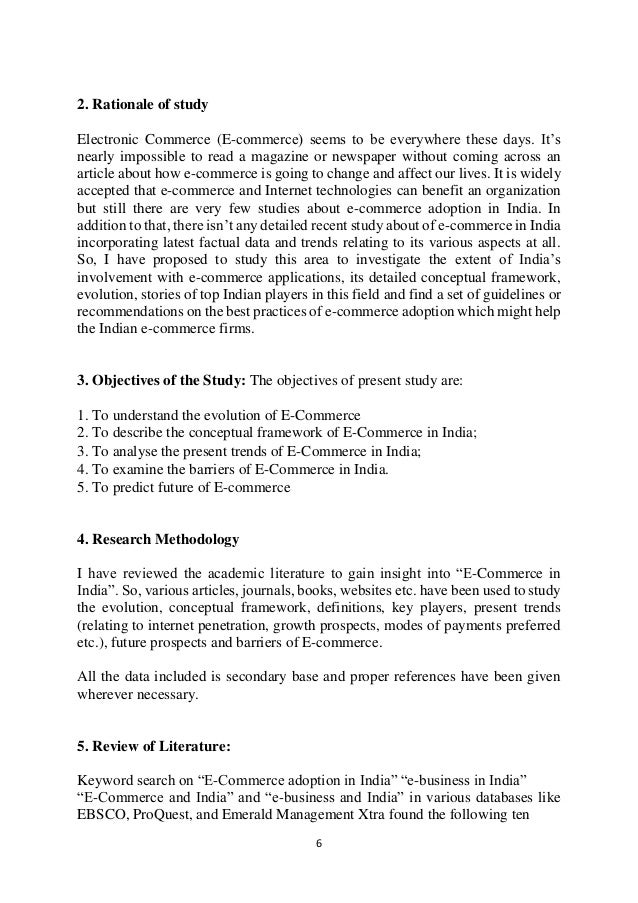 Literature review of online shopping project pdf