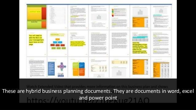 website business plan templates