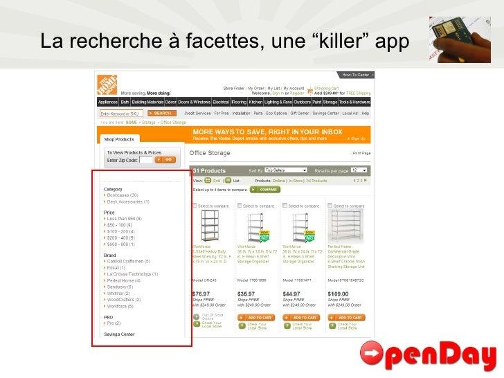 """La recherche à facettes, une """"killer"""" app"""