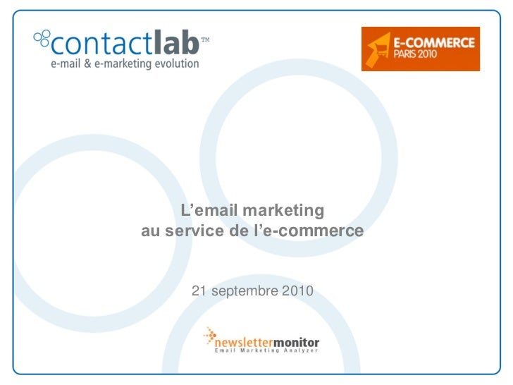 L'email marketing au service de l'e-commerce        21 septembre 2010