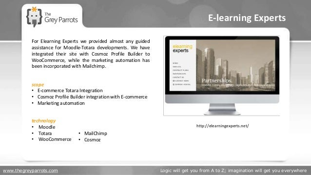 www.thegreyparrots.com Logic will get you from A to Z; imagination will get you everywhere E-learning Experts http://elear...