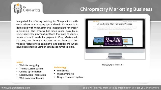 www.thegreyparrots.com Logic will get you from A to Z; imagination will get you everywhere Chiropractry Marketing Business...