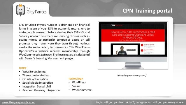 www.thegreyparrots.com Logic will get you from A to Z; imagination will get you everywhere CPN Training portal https://cpn...