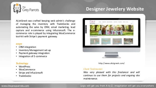 www.thegreyparrots.com Logic will get you from A to Z; imagination will get you everywhere Designer Jewelery Website http:...