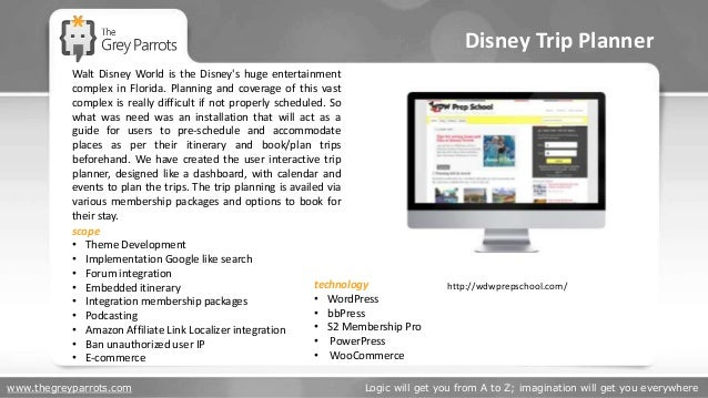 www.thegreyparrots.com Logic will get you from A to Z; imagination will get you everywhere Disney Trip Planner http://wdwp...