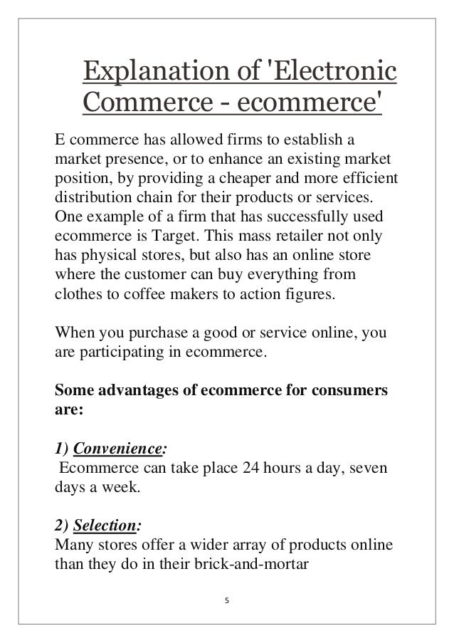 a project report on ecommerce E-commerce website project report explains about how to implement website for selling goods through online this report consists of design details with source code.